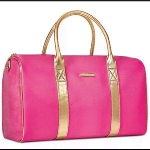 Juicy couture pink & gold duffle weekender purse